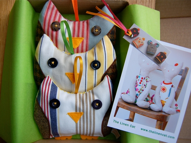 Owl Lavender Bags being packed for posting.