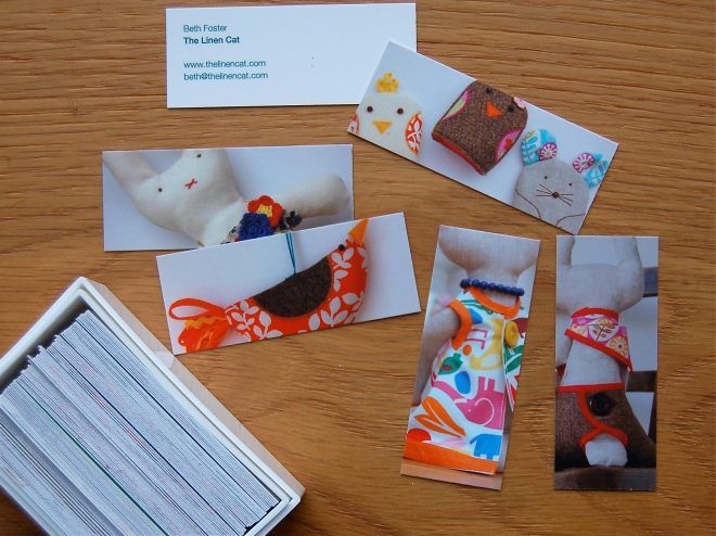 MOO print MiniCards for The Linen Cat