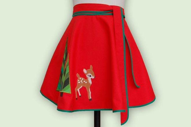 Deer Apron Cut Out Shadow