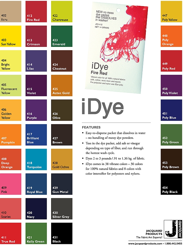Tulip Clothing Dye Color Chart